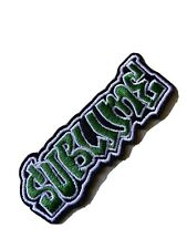 """Iron On Embroidered Patch 4/"""" x 1.75/"""" Sublime Logo"""