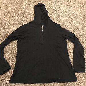 danskin now womens XL black 1/2 zip loghtweight pullover a37