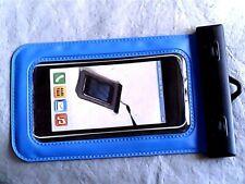 Smartphone- Handy- Tasche mit Verschluss Hülle blau 17 x 10 cm