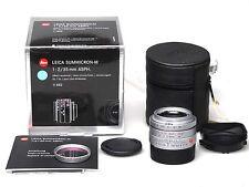 Leica Summicron-M 35 mm f2 ASPH. e39 11882 6-bit argent silver + e39 UV IR 13416