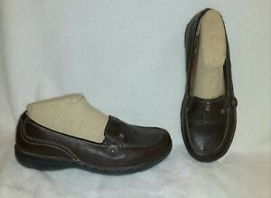 Clarks Unstructured UN.Loop Brown Leather Loafers Size 9