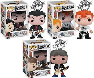 3 Sets Funko Pop Sex Pistols Vinlys figure Sid Vicious Johnny Rotten Steve Jones