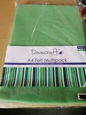 A4 Felt Sheets - Dovecraft - Pack 8 Sheets -Assorted Multipack Tonal Colours 2mm