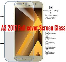 FULL CURVED 3D TEMPERED GLASS SCREEN FOR SAMSUNG GALAXY A3 2017 CLEAR AS SHOWN