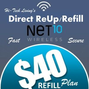 $40 NET10 FAST REFILL DIRECT to PHONE 🔥 GET IT TODAY! 🔥 TRUSTED SELLER