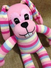 GIANT Sock Rabbit - Sock Animal - Bunny - Pink Stripey Cuddly