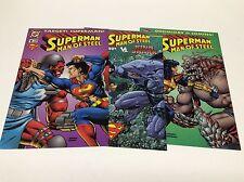 SUPERMAN MAN OF STEEL(1991) KENNER LIMITED EDITION #1D (DC/1215176) SET LOT OF 3