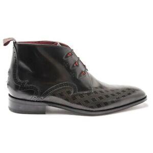 JEFFERY WEST Mens K502 Chukka Boots Black