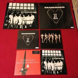 RAMMSTEIN AMAZING 6 DISC MINT UNPLAYED RARE VINYL COLLECTION PUSSY ETC MUST SEE