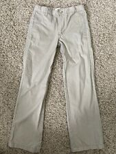 Preowned Boys Cherokee Khaki Uniform Straight Leg Pants, Size 12