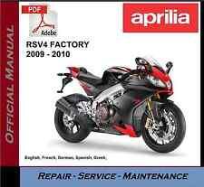 Aprilia RSV4 Factory 2009 - 2010 Workshop Service Repair Manual