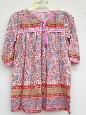 karni new latest pink kerry printed kids blouses dress size 2y to 14y, any size
