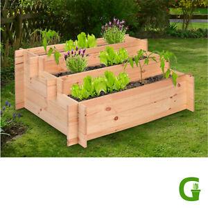 Up & Green Stufen Hochbeet 100 x 75 x 40 cm FSC-zertifiziertes Holz