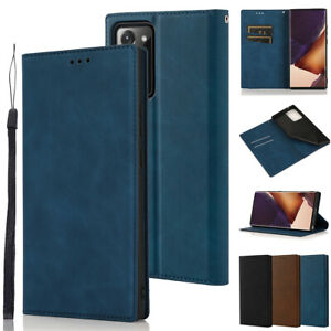 For Samsung Galaxy Note 20 Ultra Case Leather Magnetic Card Wallet Stand Cover