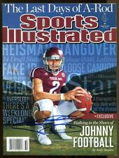 Johnny Manziel Signed Sports Illustrated No Label Newsstand Autographed Aggies