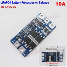 10A 2S 3.2V LiFePO4 6.4V 7.2V Battery Pack BMS PCB Protection Board W/ Balance