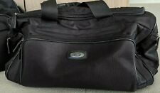 Bric's Milano Black/Red Nylon Duffle Bag Carryall with Leather Trim