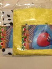 2 Mix Bird Yellow Fur MEDIUM Hanging Hut Happy Tent Plush Parrot Toy Bunk Bed