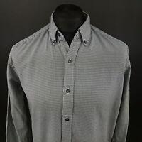 Tommy Hilfiger Mens Shirt MEDIUM Long Sleeve Vintage Fit Check Cotton