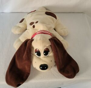 Vintage Galoob 1997 Pound Puppy Cream with Brown Spots Brown Ears Red Collar