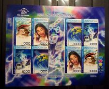 SPACE TELECOMMUNICATION Indonesia VF Stamps SHEET Mint MNH