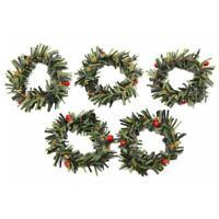 10* Christmas Hanging Wreath Door Window Wall Ornament Garland Xmas Decor