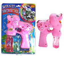 Dalmatian Bubble Gun Pink Toy Light Melody Machine bubble blower Children Kids