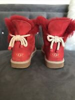 UGG Australia Chestnut Selene Boots S/N 1006493 Red Sz 7 Excellent Condition