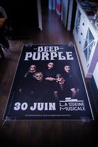 DEEP PURPLE AT THE SEINE MUSICAL 2021 4x6 ft Original Music Concert Poster