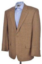 SAMUELSOHN Beige Check CASHMERE WOOL Mens Blazer Sport Coat Jacket - 44 R