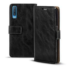 Handy Tasche Hülle Samsung Galaxy A7 2018 Case Klapphülle PU Leder Wallet Cover