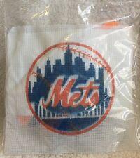 Stamped Cross Stitch Needlepoint Kit, New York METS Logo - Free US Shipping