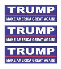 3 Trump 2016, Make America Great Again! Hard Hat Motorcycle Biker Helmet Sticker
