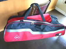 Reebok Wheeled Elite Locker Baseball Softball Equipment Bag Pockets Red Black
