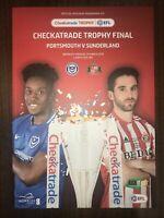 Portsmouth v Sunderland  Checkatrade Trophy Final 2019 Programme MINT
