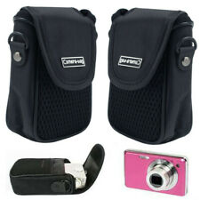 Outdoor Black Soft Compact Digital Camera Pouch Style Case Cover Portab CAT