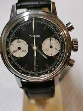 Zodiac 73321 Chronograph Poor Man's Heuer reverse panda dial 7733 as Carrera