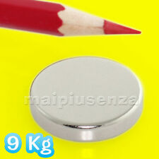 Magnete 2 DISCHI 25x5 mm calamita NEODIMIO super magneti forza di attrazione 9Kg