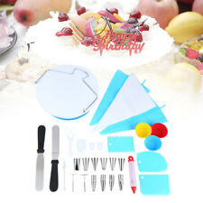 106pcs Cake Decorating  Supplies Pieces Baking Tools Turntable Spatula Stand Set