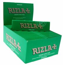 Rizla Silver Blue Green King Size Slim Genuine Smoking Cigarette Rolling Papers Red 40