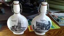 2 white porcelain wine bottle,Regensburg,Rothaus,Vintage,good condition