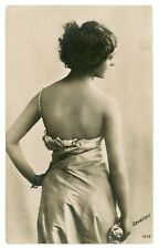 1900s LINA CAVALIERI Italian Opera Star Singer Soprano Photo Tinted Postcard