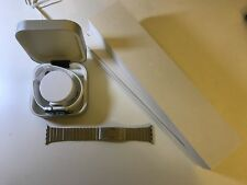 Apple Watch Series 2 42mm Silver Aluminum Case White Sport Band w/ accessories