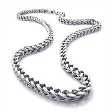 Schmuck Herren-Kette, Edelstahl Biker Koenigskette Halskette, Silber, Breit L6T8