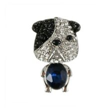 Small Crystal Bulldog Brooch