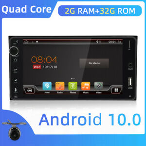 "Android10 Car Stereo Head Unit 7"" 2DIN GPS Navi for Toyota Bluetooth WIFI USB FM"
