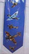 Spitfire planes on blue Silk Tie