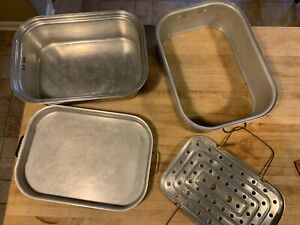 Vintage Wear Ever Aluminum Roasting Pan Roaster #325 - 4 Pieces - Oven,Vented