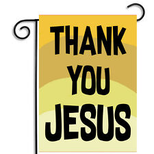 Thank You Jesus Outdoor Nylon Garden Flag Apartment Flag with Matching Magnet