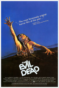 The Evil Dead Bruce Cambell Vintage Horror Movie Poster